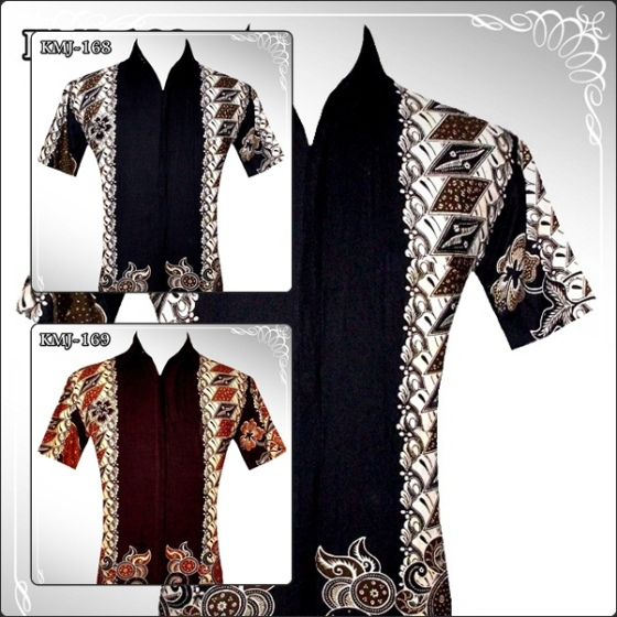 BATIK CASUAL - Black & Dark Brown (KMJ-168/169)