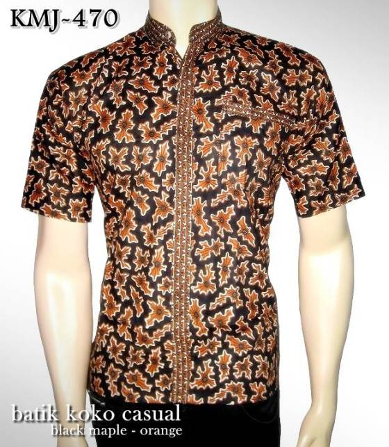 batik koko casual modern black maple orange www.fb.com/tokobatikonline.rajapadmi