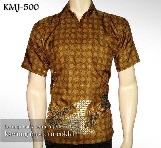 Batik Semi Sutera Kawung Modern COKLAT