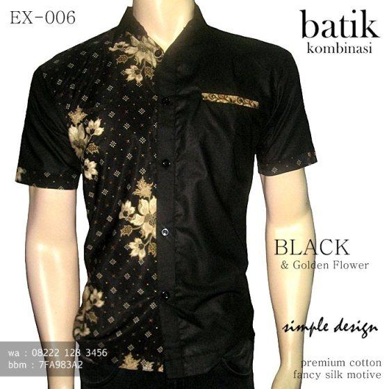 batik kombinasi kain polos hitam, kemeja batik hitam keren, batik kombinasi elegan, seragam batik kombinasi, batik pria modern terbaru, trend batik terbaru, batik indonesia, batik jawa modern, seragam batik kantor hitam